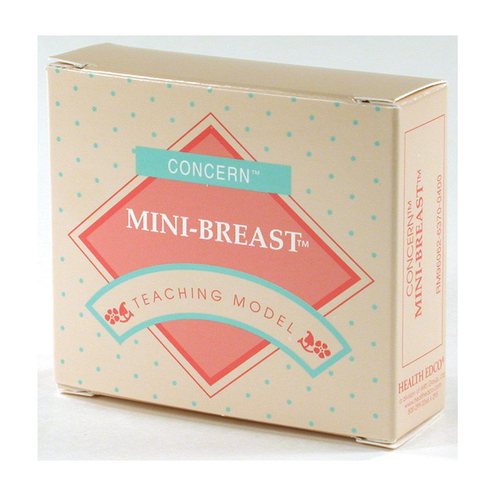 Mini-Breast Model, realistic look and feel, simulates 2 breast lump types, beige color, Health Edco, 26903