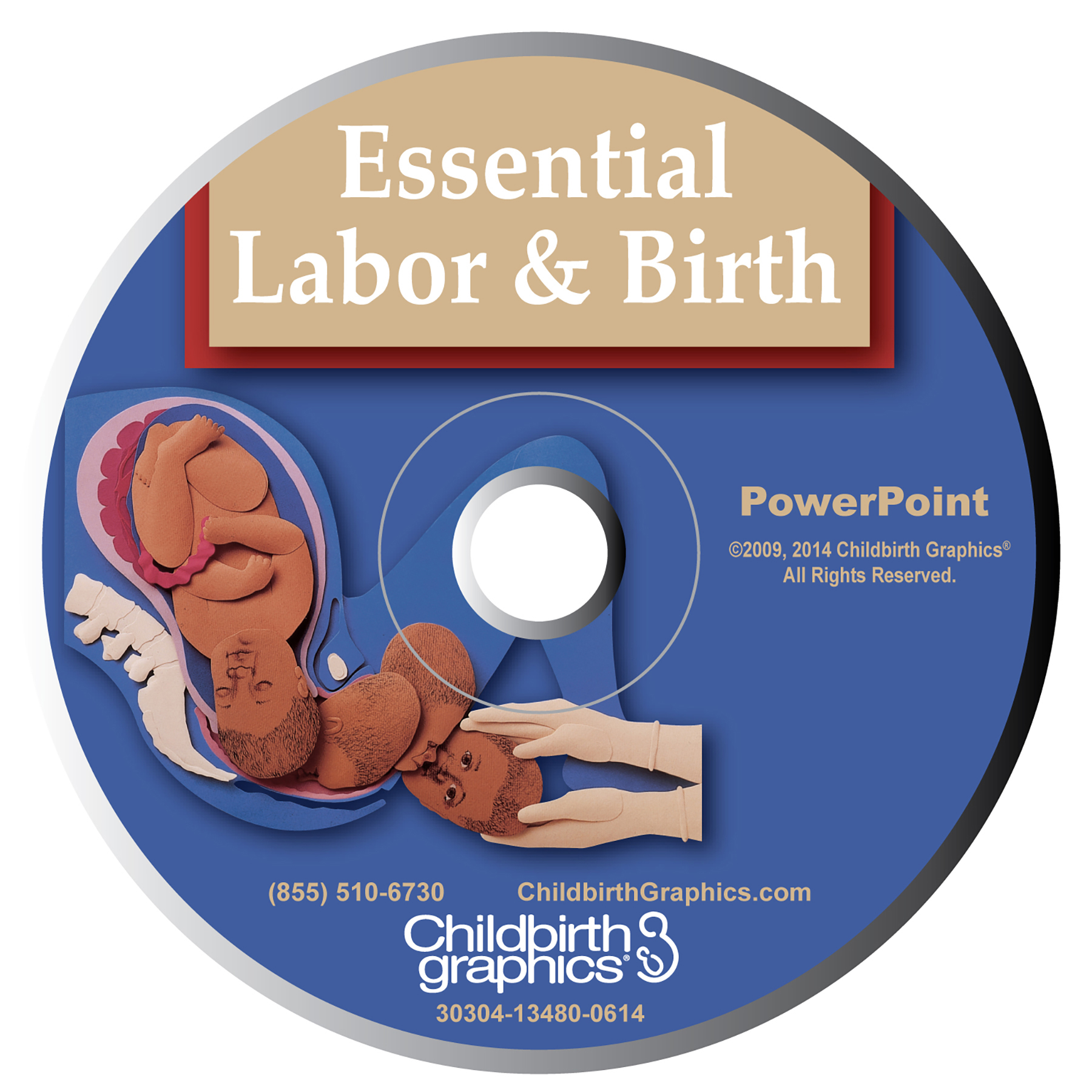 Labor and Birth PowerPoint,English and Spanish powerpoint presentations using paper sculpture illustrations to explain primary labor and birth processes, Childbirth Graphics, 30304