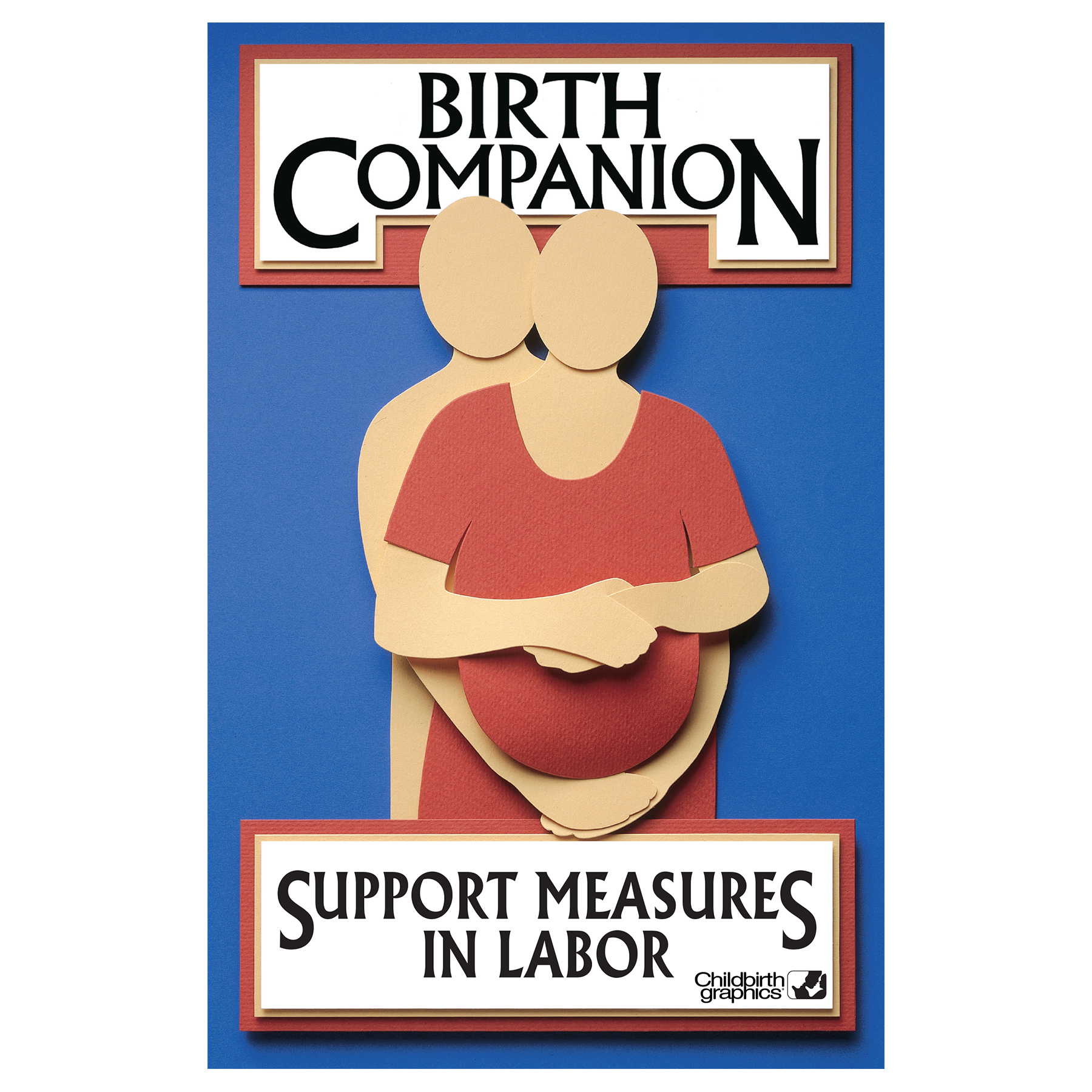Birth Companion booklet cover image, photographic reference of labor comfort measures, Childbirth Graphics, 38525