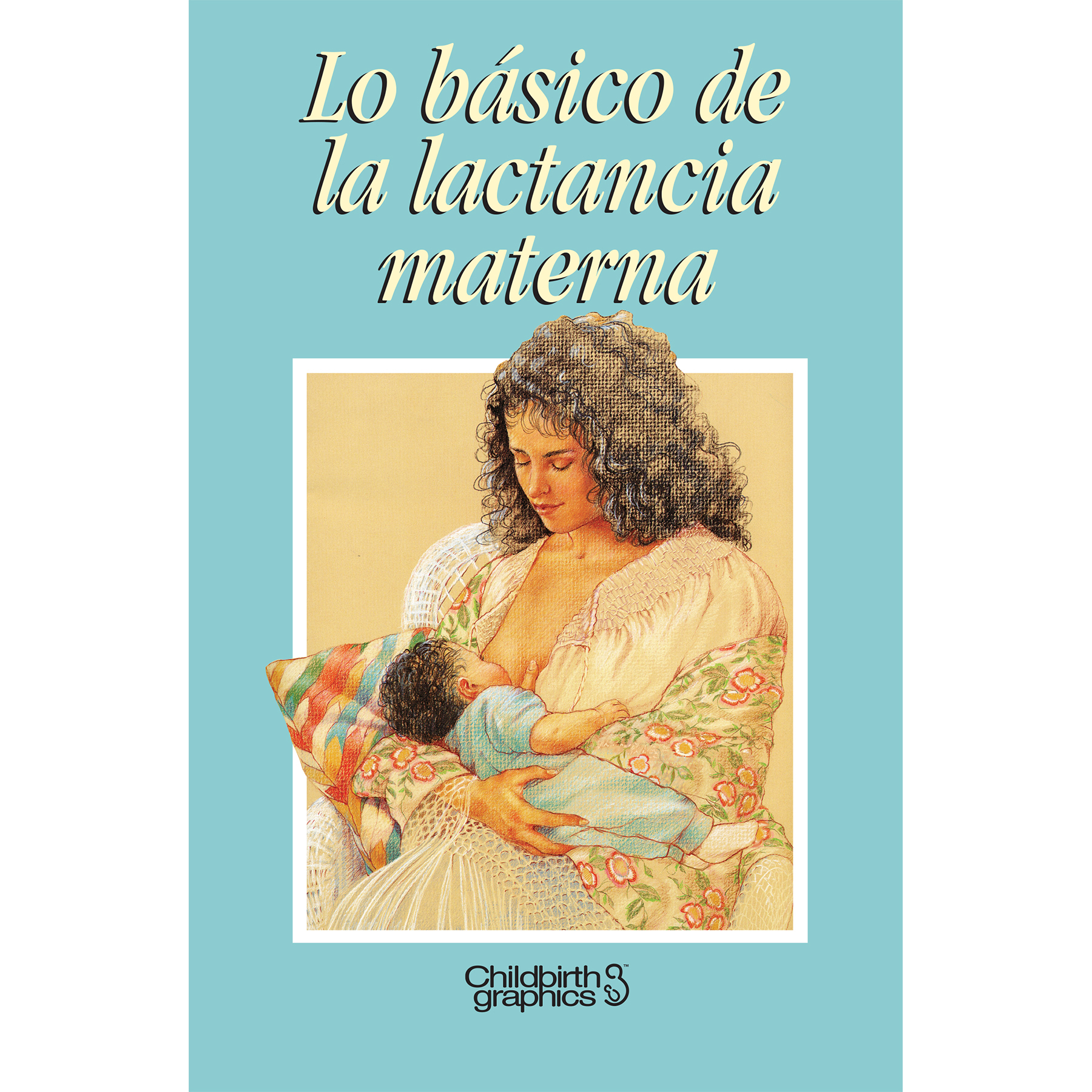 Breastfeeding Basics 16-page illustrated booklet cover image shown Spanish, Childbirth Graphics, 38603