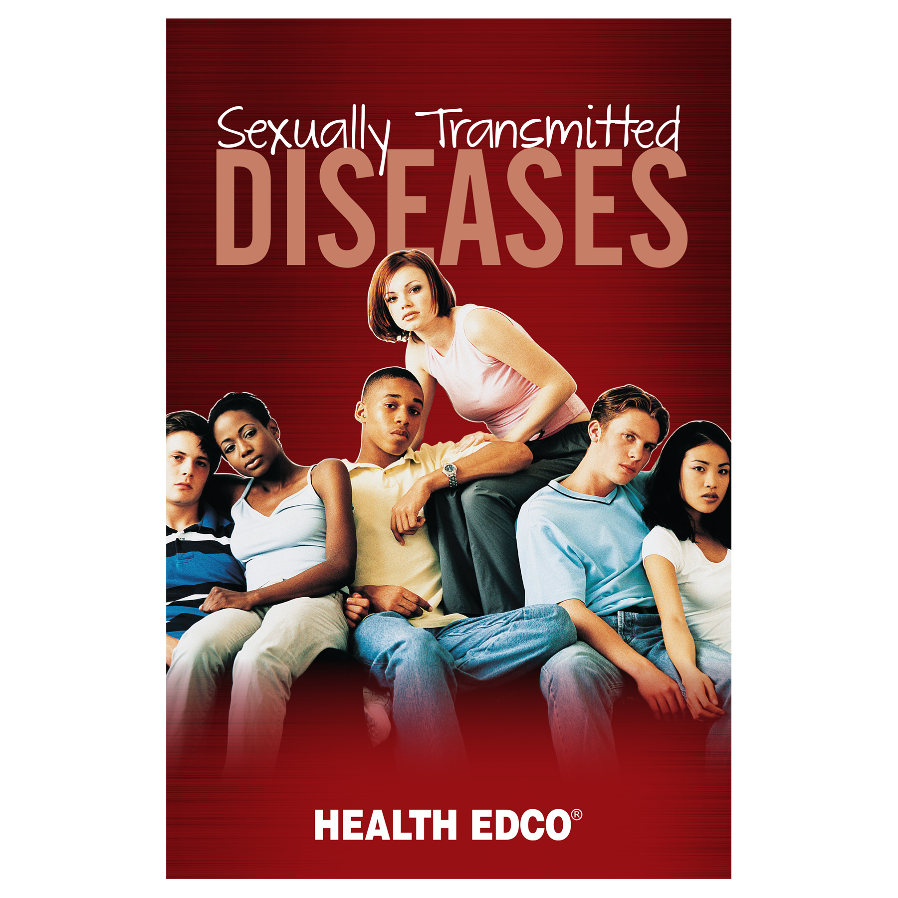 Sexually Transmitted Diseases STDs 16-page booklet cover, two couples depicted in black and white, Health Edco, 40039