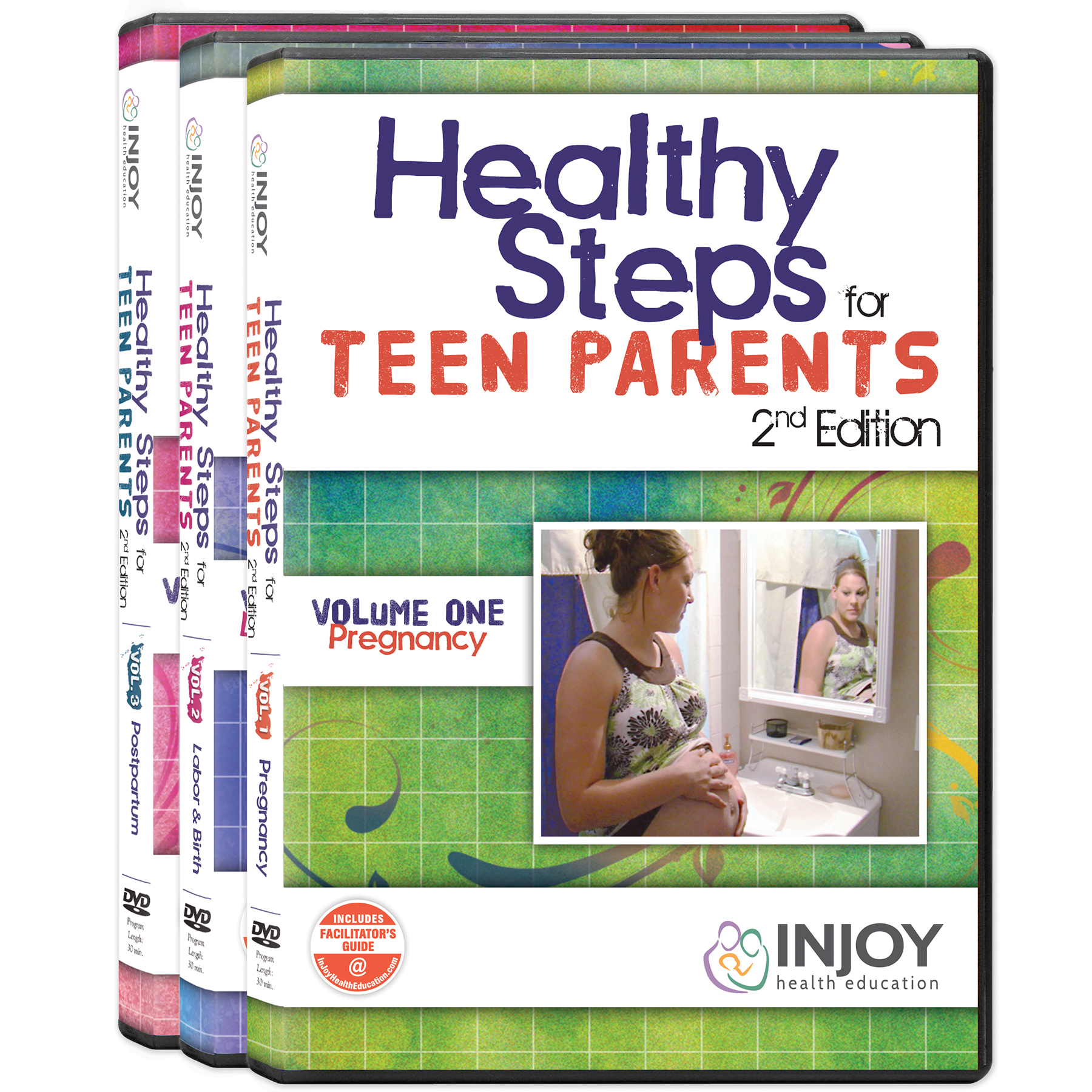 Healthy Steps for Teen Parents DVD set volume 1 cover-Pregnancy, Childbirth Graphics, 42093