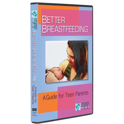Better Breastfeeding a Guide for Teen Parents DVD cover, teen mom holding baby, Childbirth Graphics, 42113