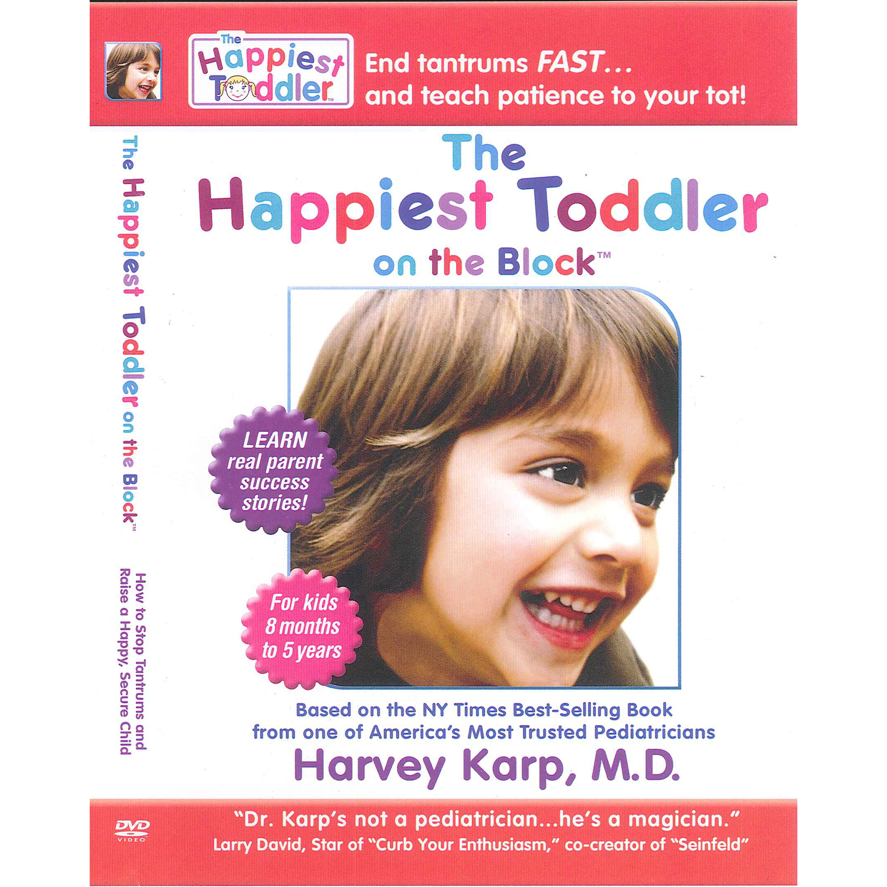 Happiest Toddler on the Block DVD cover image, improving toddler behavior with Harvey Karp, Health Edco, 42266