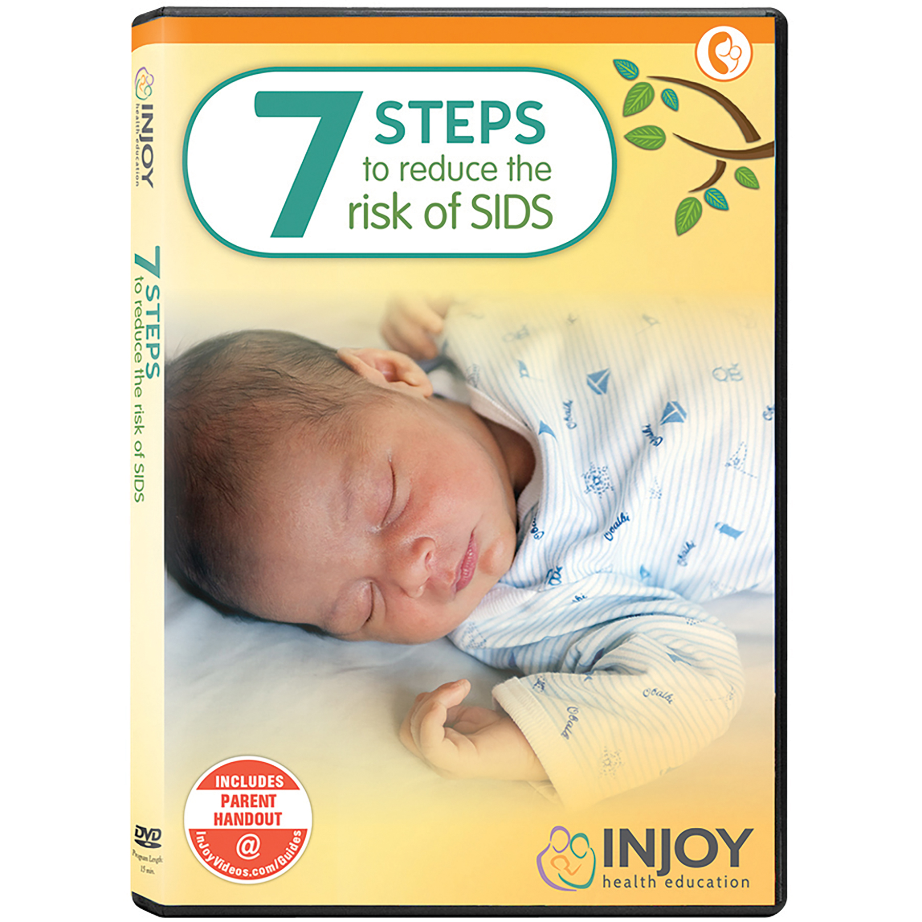 Steps to Reduce the Risk of SIDS Sudden Infant Death Syndrome DVD cover closeup of baby sleeping, Childbirth Graphics, 44032