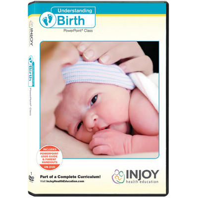 Understanding Birth PowerPoint Class DVD cover newborn striped cap skin to skin, Childbirth Graphics, 48854