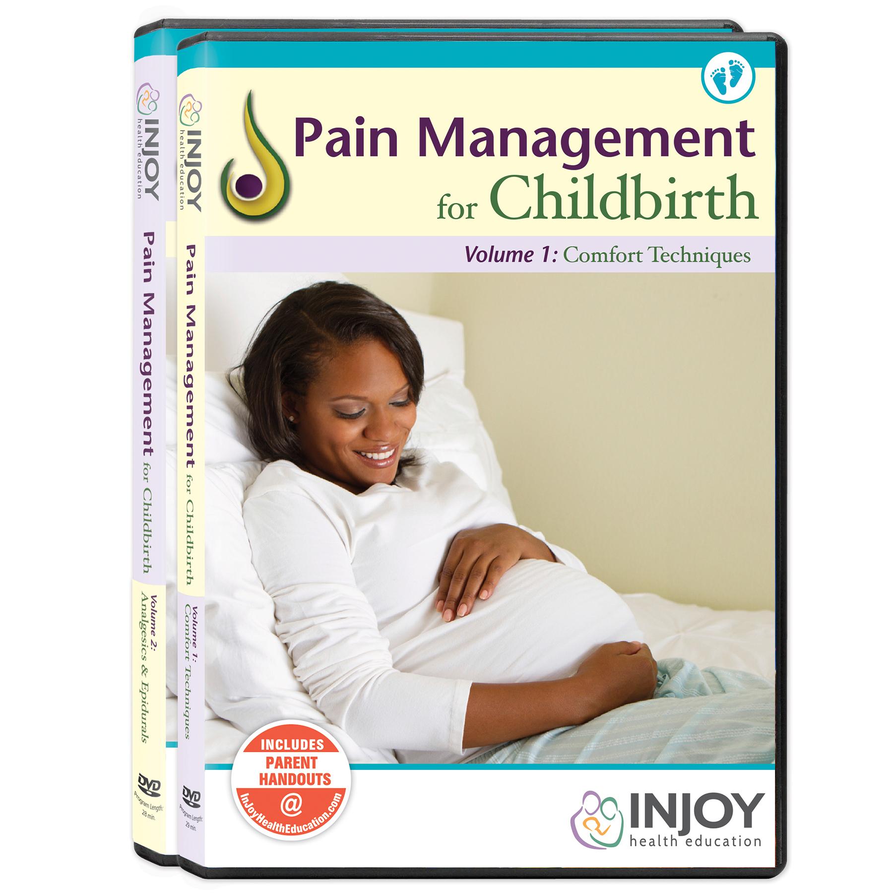 Pain Management for Childbirth DVD Set 2, comfort techniques analgesics and epidurals, Childbirth Graphics, 48865