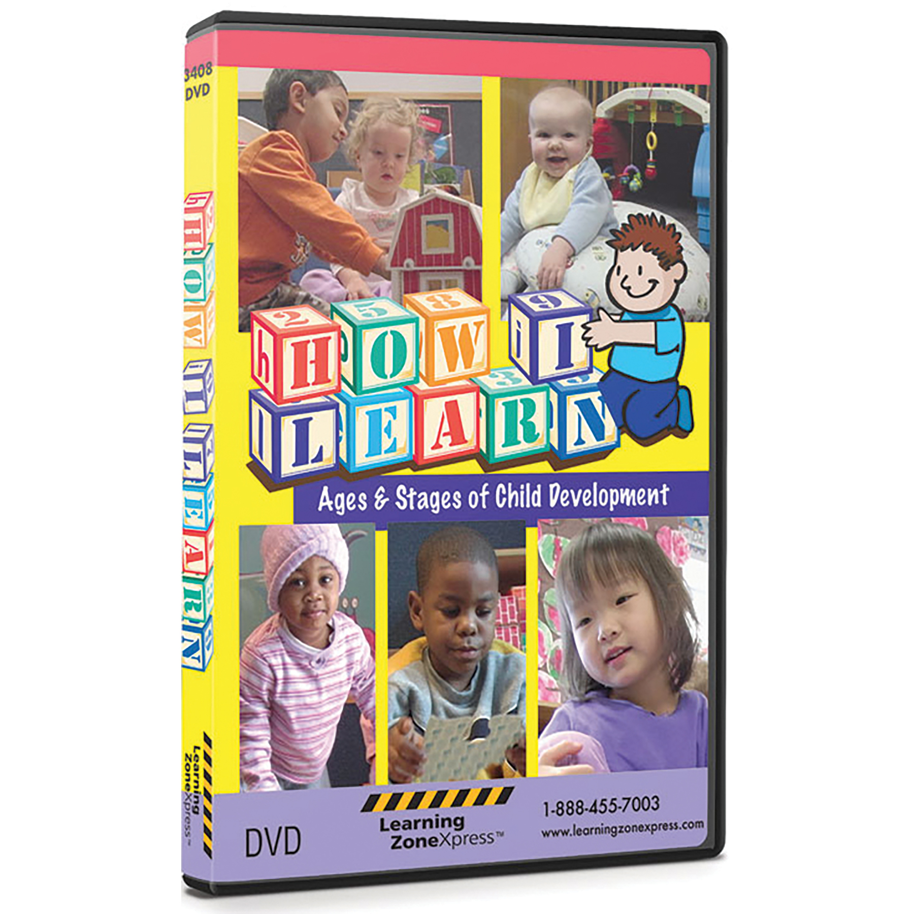 How I Learn DVD ages and stages of development cover, 5 photos of children many ages ethnicities, Childbirth Graphics, 48952