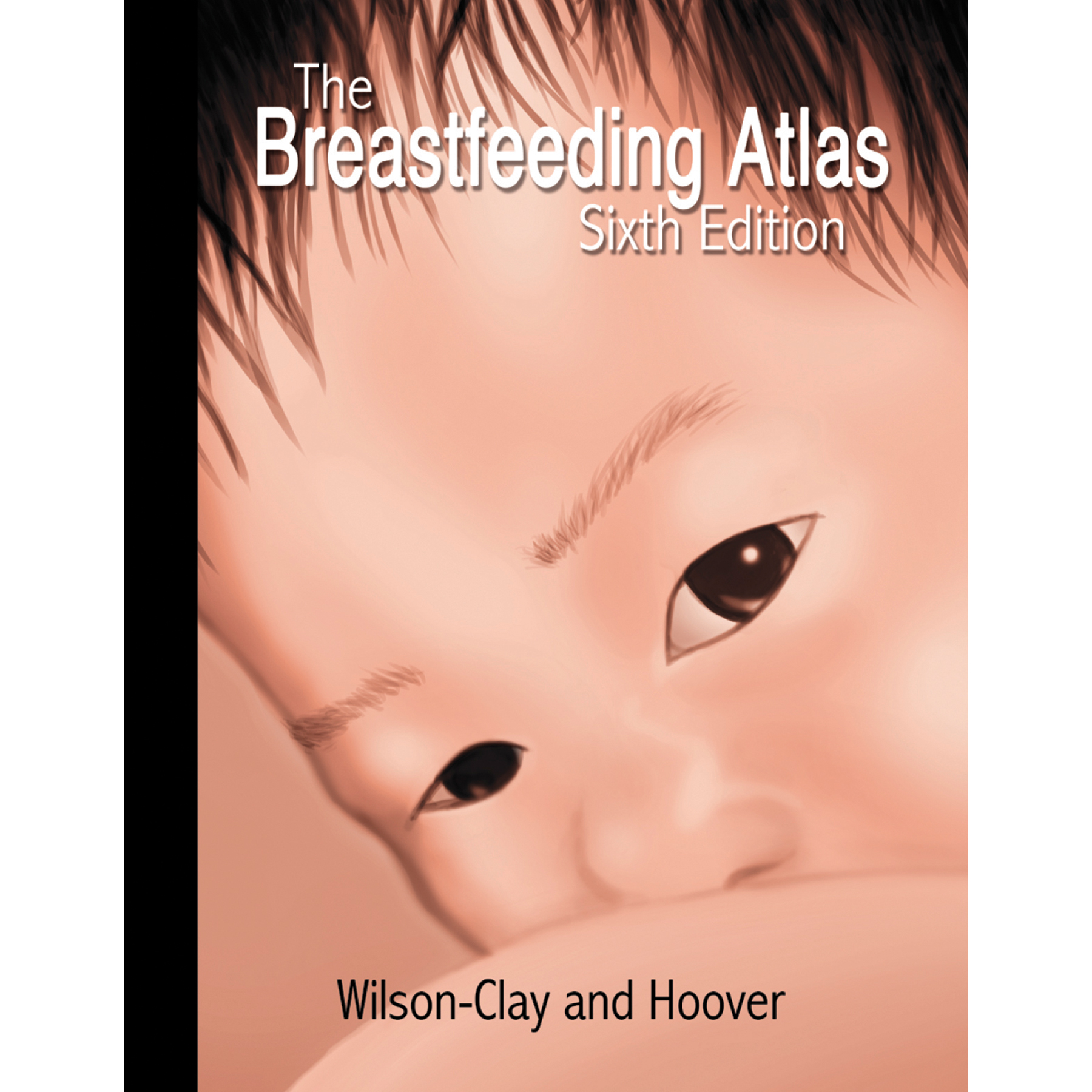 The Breastfeeding Atlas Book 6th edition, closeup image of Asian baby breastfeeding, 400 photos, Childbirth Graphics, 50021