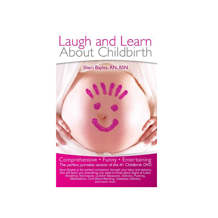 Laugh & Learn About Childbirth Book, pregnant belly with fingerpainted happy face, Childbirth Graphics, 50031