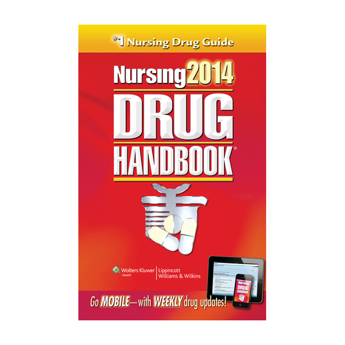Nursing 2014 Drug Handbook, best-selling informative 900 generic & 30000 trade drugs, Health Edco, 50315