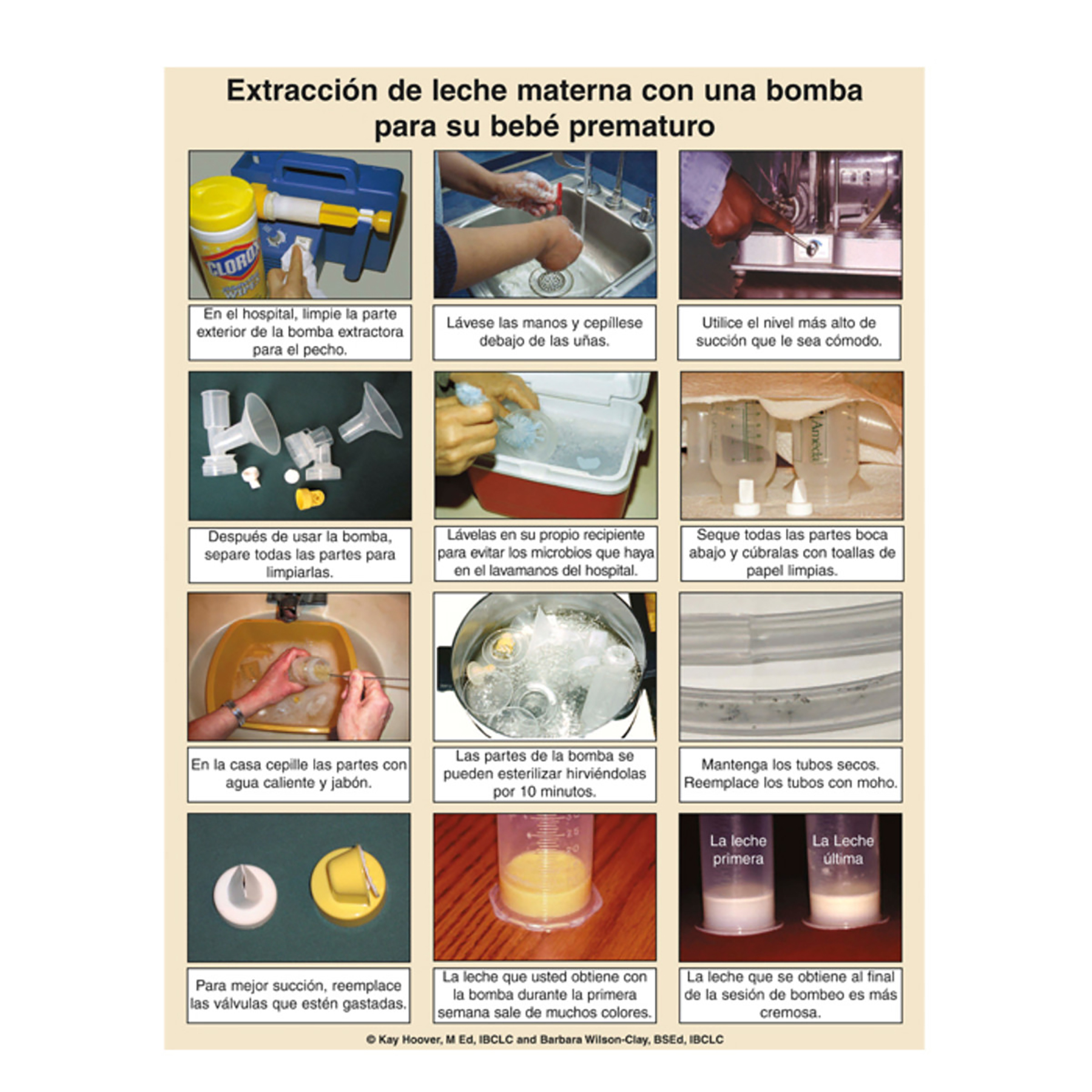 Pumping Milk for your Preemie 50 sheet pad Spanish, photos step by step insturctions, Childbirth Graphics, 50317