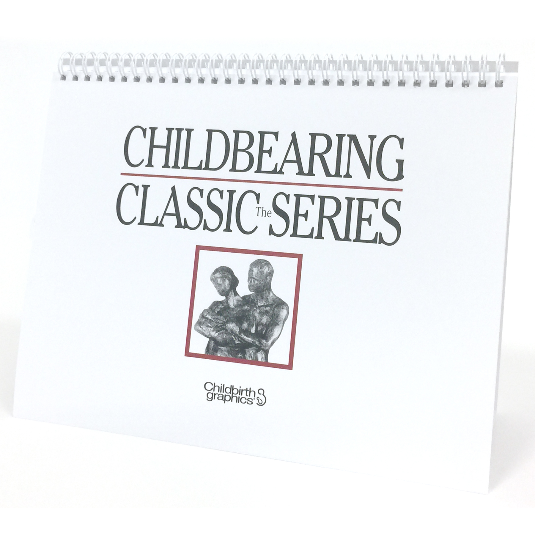 Childbearing illustrated desk size spiral bound flip chart cover, Childbirth Graphics, 50702