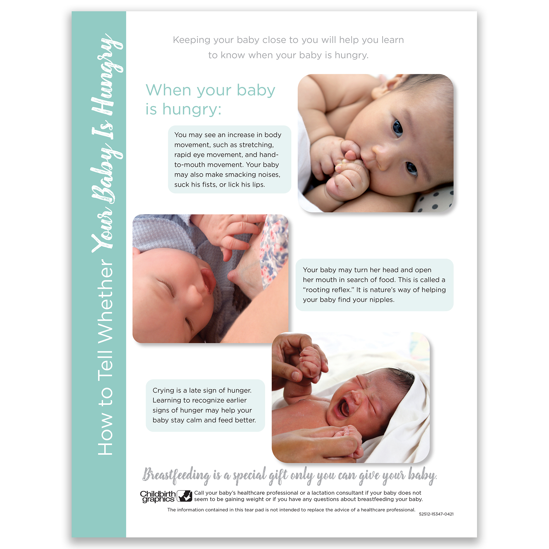How to Tell Whether Your Baby is Hungry breastfeeding Tear Pad photos, Childbirth Graphics, 52512