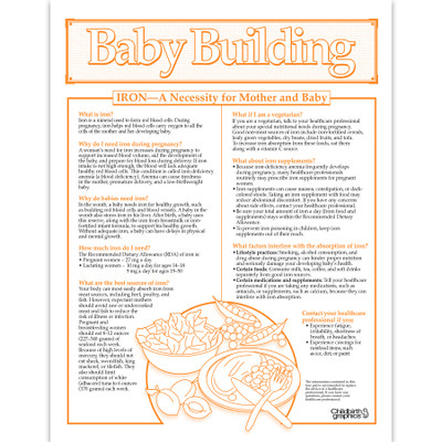Baby Building 1-color illustated Iron tear pad English side, iron sources pregnancy and why needed, Childbirth Graphics 52571