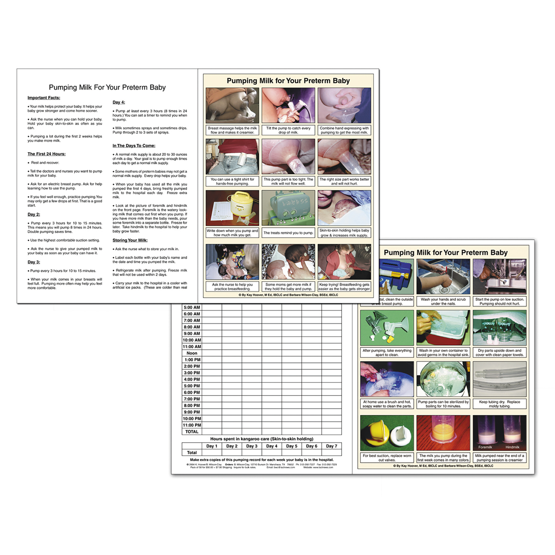 Pumping Milk for Your Preterm Baby full-color tear pad with photos and journal, Childbirth Graphics 52730