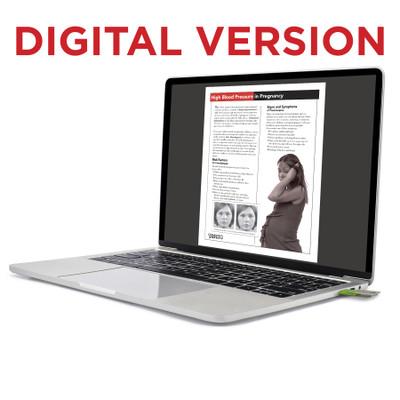 High Blood Pressure in Pregnancy Tear Pad, Virtual, digital version of Childbirth Graphics pregnancy education handout 52745V