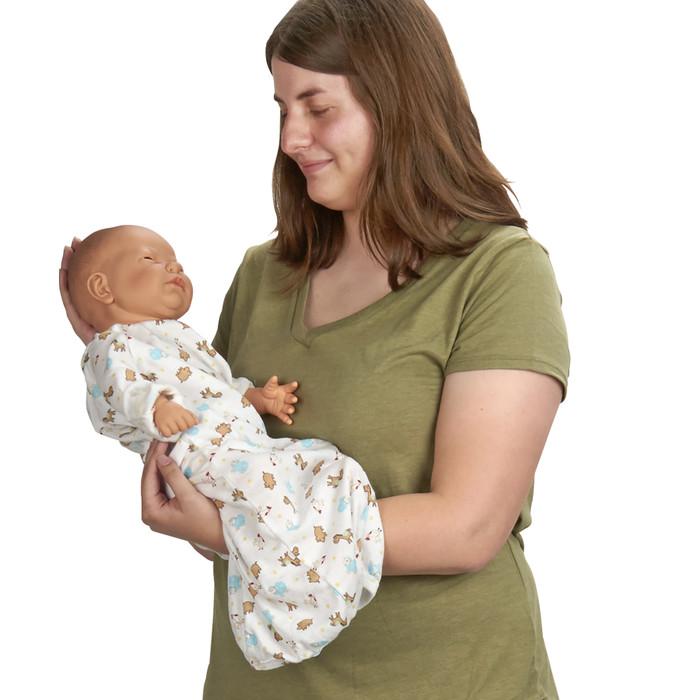 Standard Ready or Not Tot white female , model holding doll, Health Edco, 53600