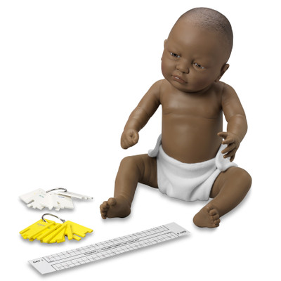 Standard Ready or Not Tot black female with control keys and program teacher correction template, Health Edco, 53602