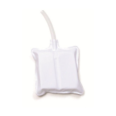 Baby Anne Replacement Airways, white plastic square bag with clear plastic tube extending from center, Health Edco, 56216