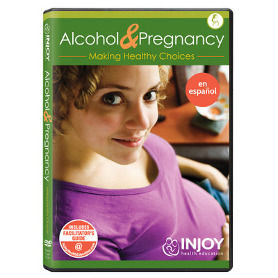 Injoy's Alcohol and Pregnancy DVD, Spanish, available from Childbirth Graphics, childbirth education video program, 71484