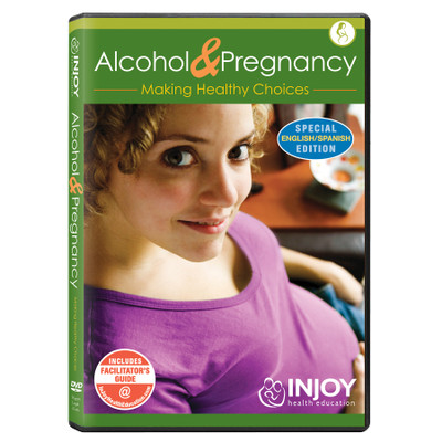InJoy's Alcohol and Pregnancy DVD available from Childbirth Graphics, pregnancy education videos and materials, 71485