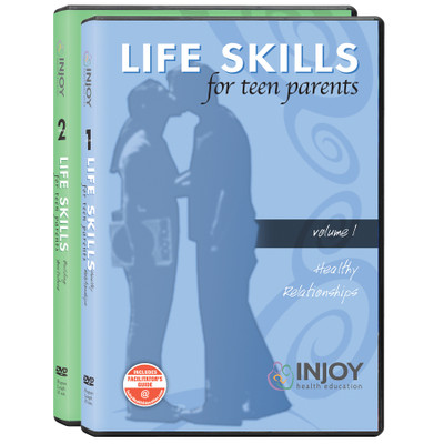 Life Skills for Teen Parents 2-Volume DVD Set available at Childbirth Graphics, teen parenting education materials, 71488