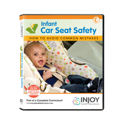 InJoy's Infant Car Seat Safety USB video program available from Childbirth Graphics, parenting education materials, 71489