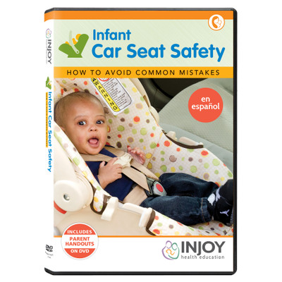 InJoy's Infant Care Seat Safety DVD, Spanish, available at Childbirth Graphics, early parenting education materials, 71491