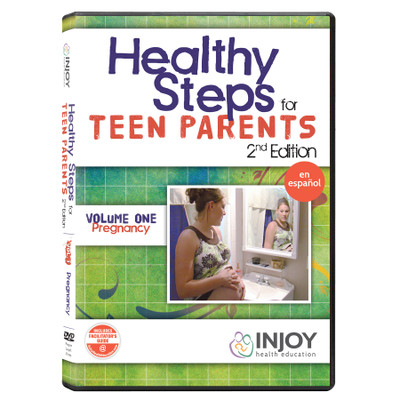 Healthy Steps for Teen Parents 2nd Edition Volume 1: Pregnancy DVD, Spanish, available at Childbirth Graphics, 71495