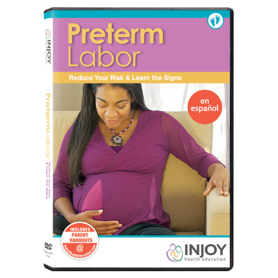InJoy's Preterm Labor DVD, Spanish, available from Childbirth Graphics, childbirth education materials and models, 71508