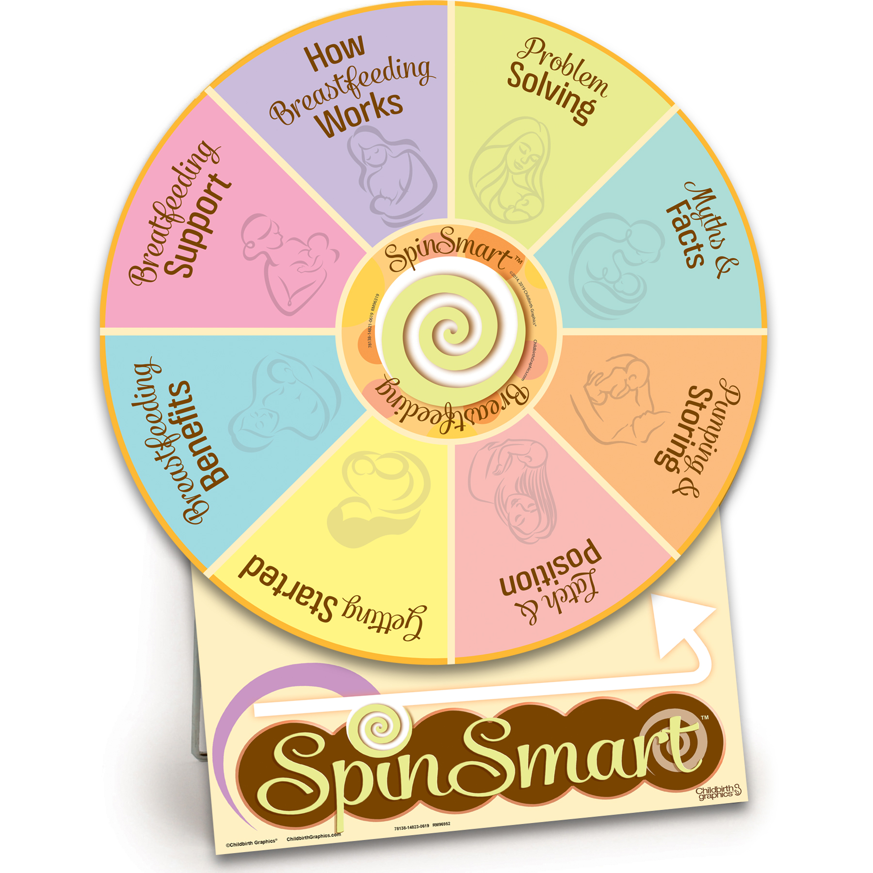 SpinSmart Breastfeeding Wheel for breastfeeding education from Childbirth Graphics, lactation teaching activity, 78138