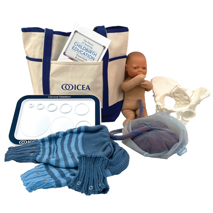 ICEA Childbirth Educator Tool Kit from Childbirth Graphics with childbirth education teaching tools and ICEA tote bag, 78872