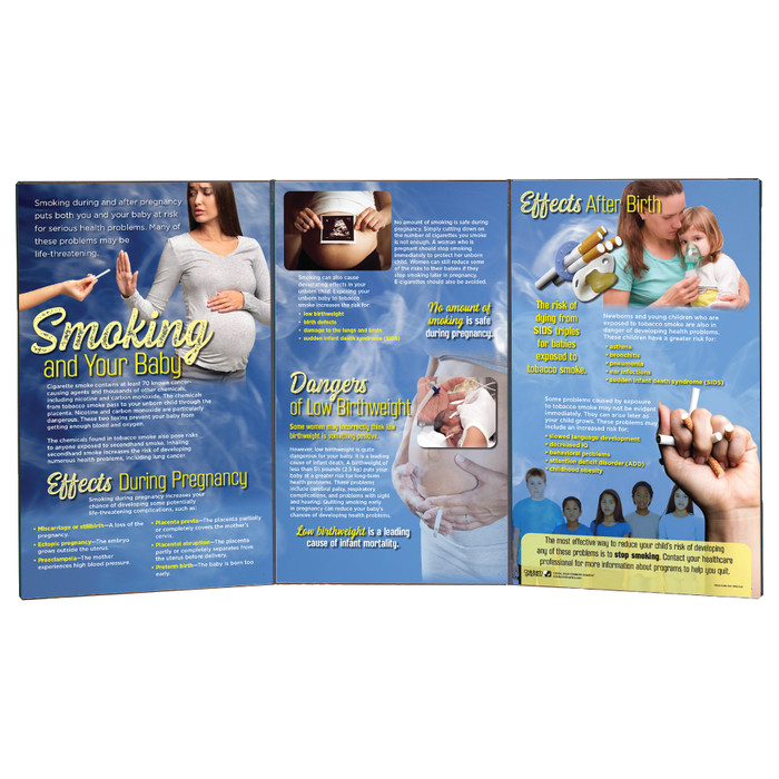 Smoking and Your Baby Folding Display by Childbirth Graphics for childbirth and parenting education for infant health, 79022