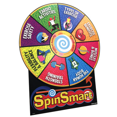 Health Edco's SpinSmart Physical Activity Wheel for health education to teach about physical activity's benefits, 79097