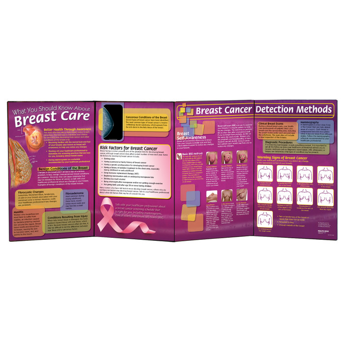 What You Should Know About Breast Cancer health education folding display for teaching women's health from Health Edco, 79308