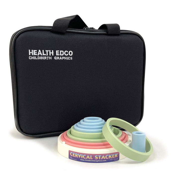 Cervical Stacker Model with Case, childbirth education teaching tool to teach cervical dilation, Childbirth Graphics, 79932