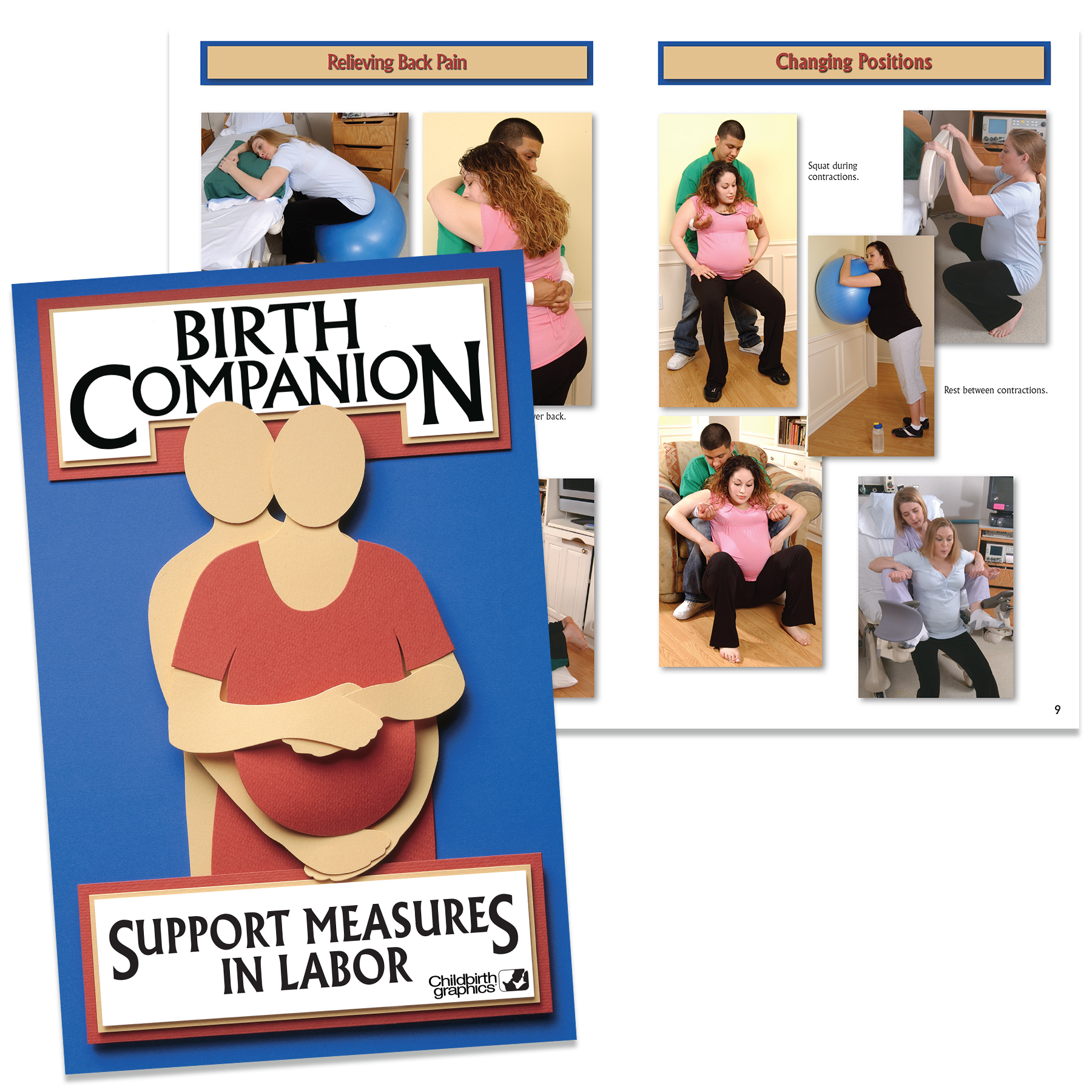 Birth Companion Booklet for childbirth education from Childbirth Graphics
