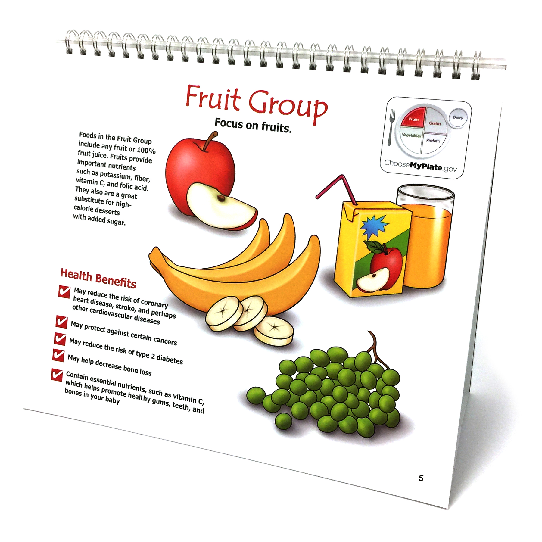 Nutrition During Pregnancy Flip Chart for prenatal nutrition education from Childbirth Graphics